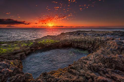 sea beach grancanaria sunrise landscape mar playa paisaje el amanecer canaryisland telde lagarita bufadero