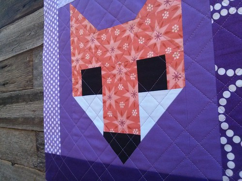fox cushion front detail
