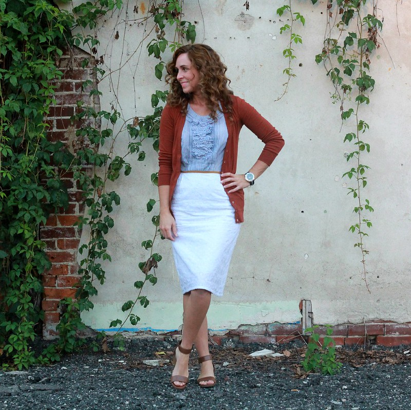 how to refashion a top into a sheath dress via Kristina J blog