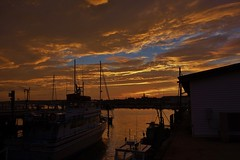 GLOUCESTER AT DUSK- SUNSET AT THE DOCK 7:00PM 9/11/14
