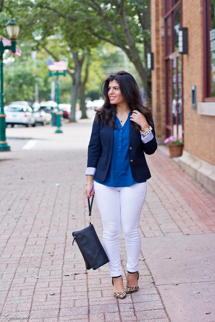 white jeans, navy blazer, leopard pumps-1.jpg