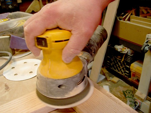 Sanding the joints flush