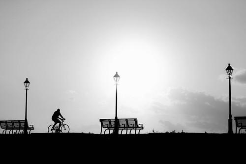 city urban white black silhouette sunrise scott photography neworleans monochromatic frenchquarter biking riverfront nola mohrman