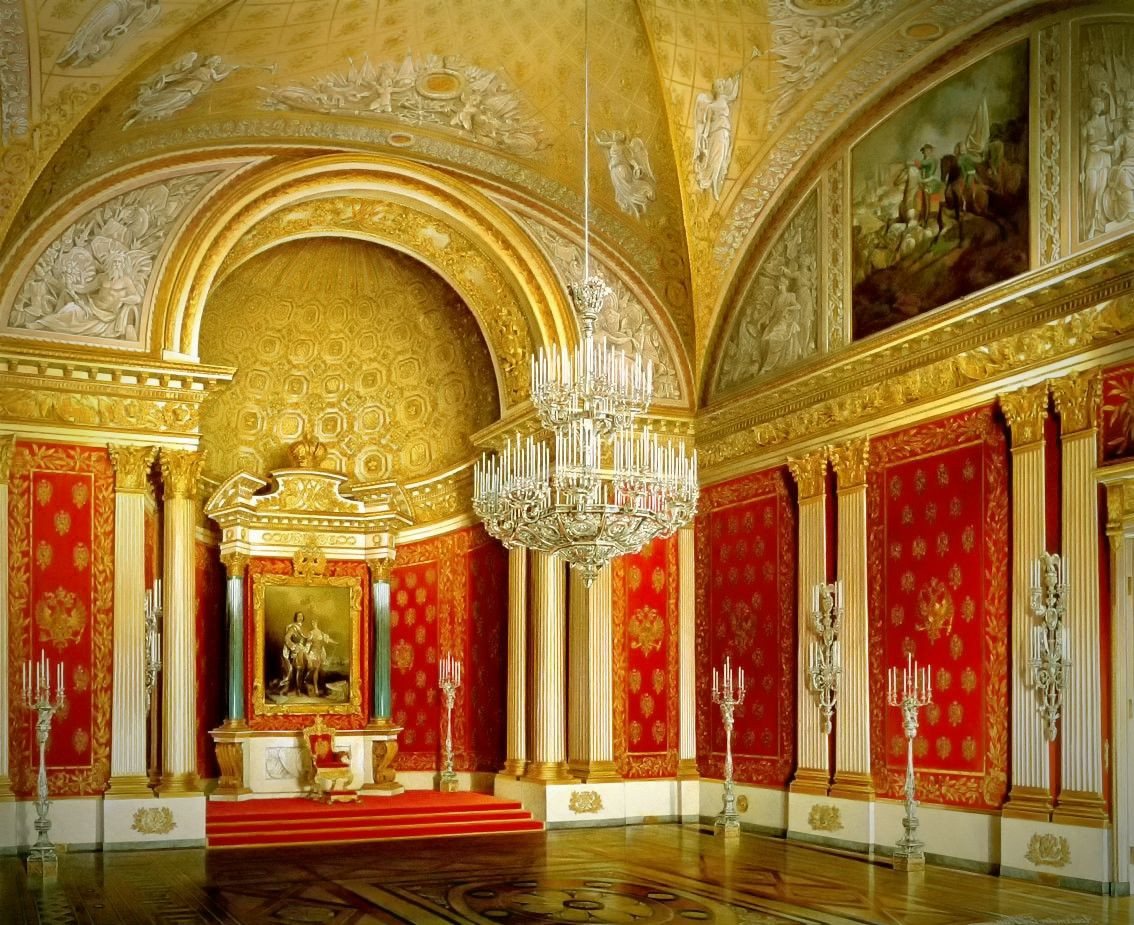 Peter the Great (Small Throne) Room, 1862
