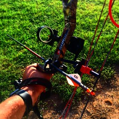 @psebows your bow rocks, can't wait to hunt. #bowhunting #bow #arrowtattoo #huntwhatyoueat
