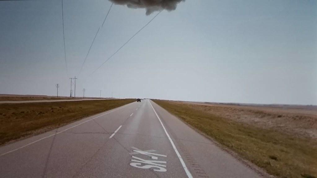 Power lines. #ridingthroughwalls #Saskatchewan #xcanadabikeride #googlestreetview