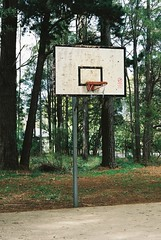 Basketball backboard and ring