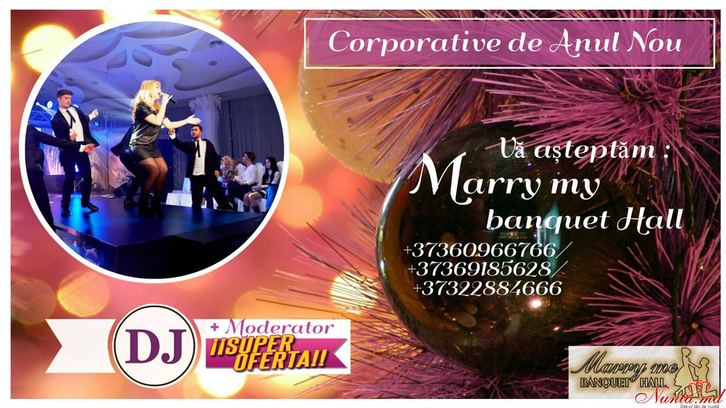 Marry Me Banquet Hall > Marry me Banquet Hall – мы сделаем всё для того чтобы Ваше Новогодние хлопоты были исключительно приятными!!!