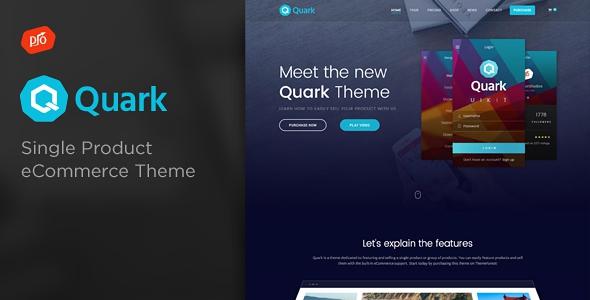 Quark v2.1 – Single Product eCommerce Theme
