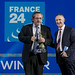 Marc Saikali, Director of FRANCE 24, winner of the News Award, with Jean-Philip De Tender, Media Director, EBU