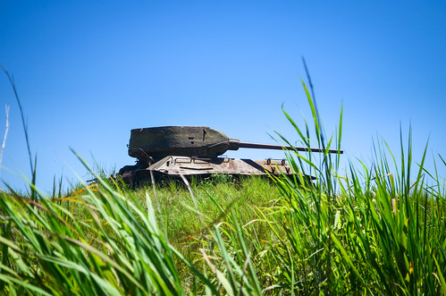 Tanks in Angolan countryside