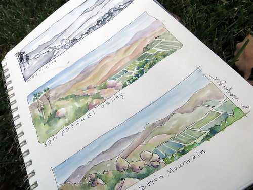 from my sketchbook ~view from starvation mt