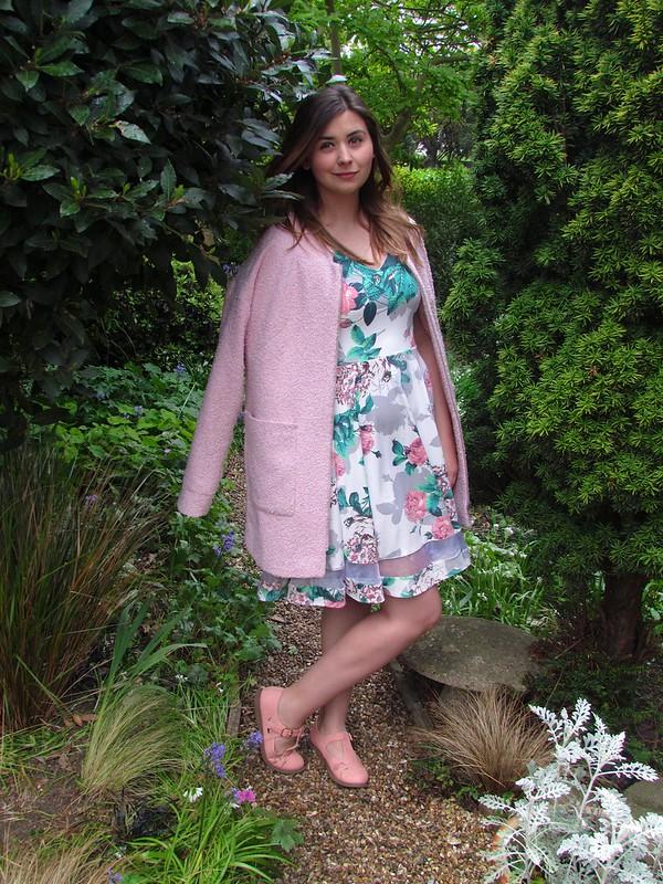 Matalan sheer panel floral dress