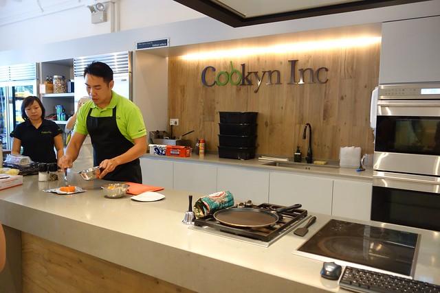 Mervyn & Amanda from Cooklyn Inc doing a cooking demonstration
