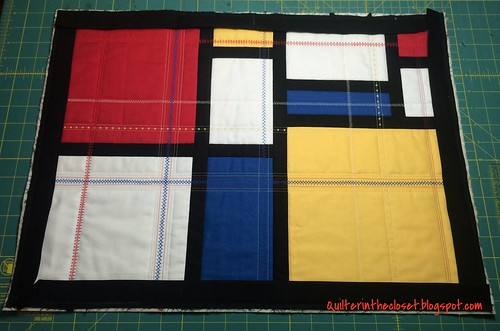 binding almost done, and quilt trimmed