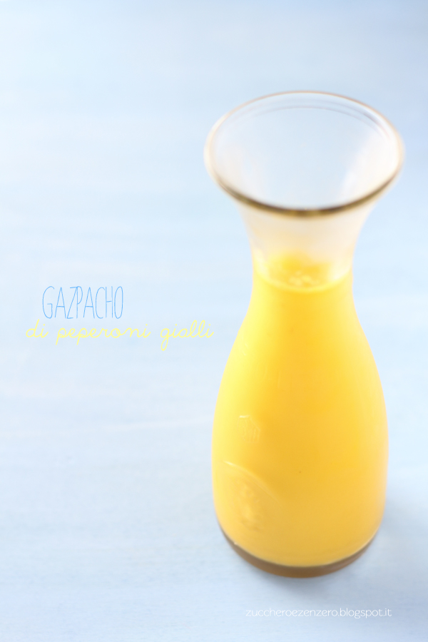 Gazpacho di peperoni gialli