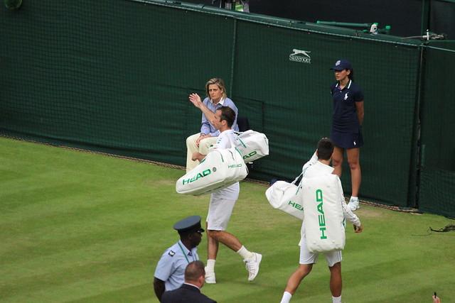 Radek Stepanek and Novak Djokovic