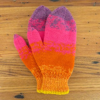 Sunset Stripes Mittens