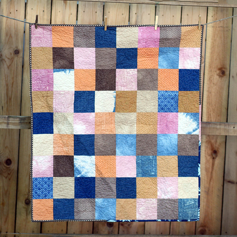 Naturally Dyed Patchwork Quilt