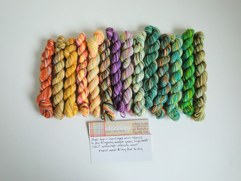 mini skeins from nikkislipp on etsy