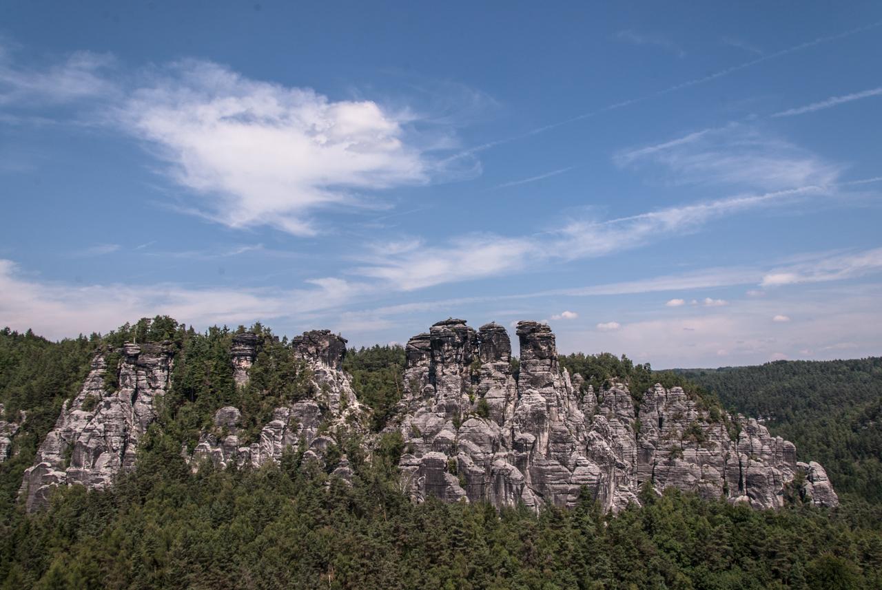 Felsformation gegenüber der Bastei