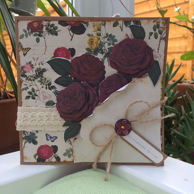 Botanicals bunch of roses card