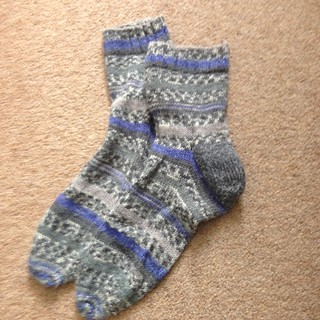 First Socks - 9 years on.