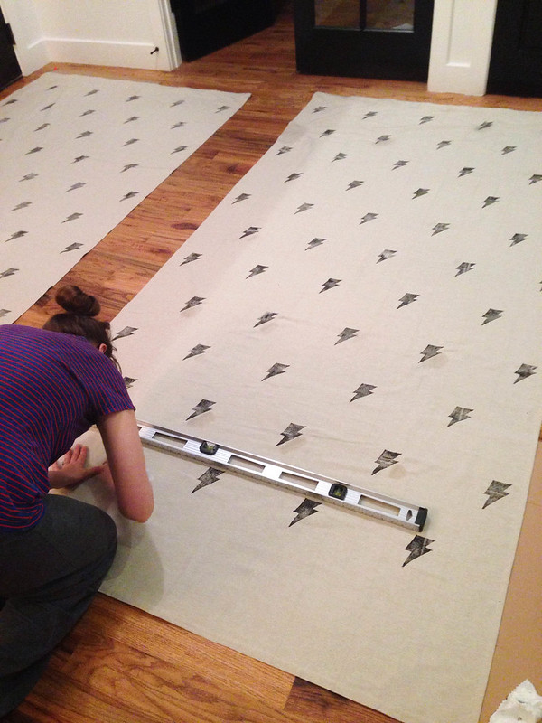 How to Stamp Curtains-6