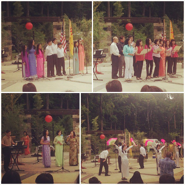 Four singing groups performing at the Vietnamese Cultural Heritage festival