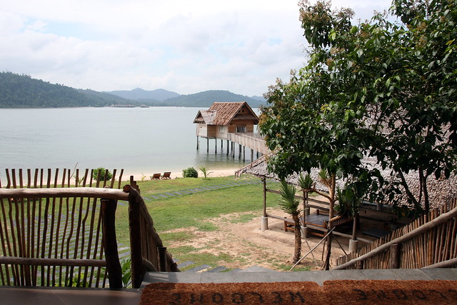 From the Grand Lodge, you can walk to the sea villas
