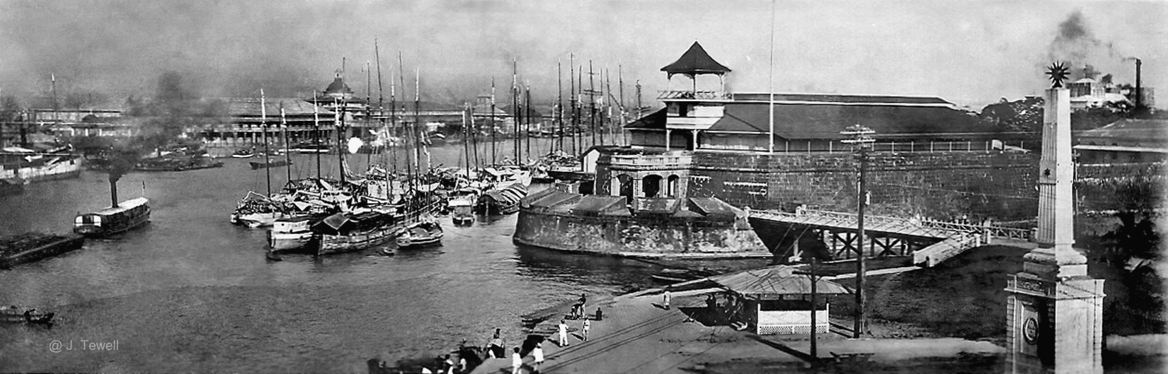 Pasig River, Fort Santiago, Anda Monument, Manila, Philippines, 1910