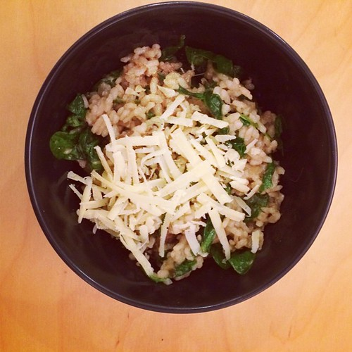 #meatlessmonday mushroom and spinach #risotto #italian