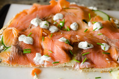 salmon, fish, seafood, lox, food, dish, cuisine, smoked salmon,