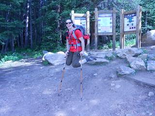 Happy CMC Trip Leader at Half Moon Trailhead
