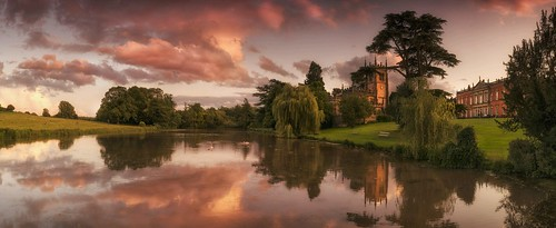 sunset lake reflection leicestershire panoramic stitched grade1 stauntonharold graduatedneutraldensityfilter 18105mm shirleyfamily nikond7000 nationaltrustchurch