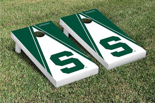 Michigan State Spartans Cornhole Game Set Triangle S