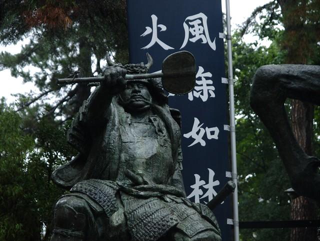 八幡原古戦場 武田信玄像