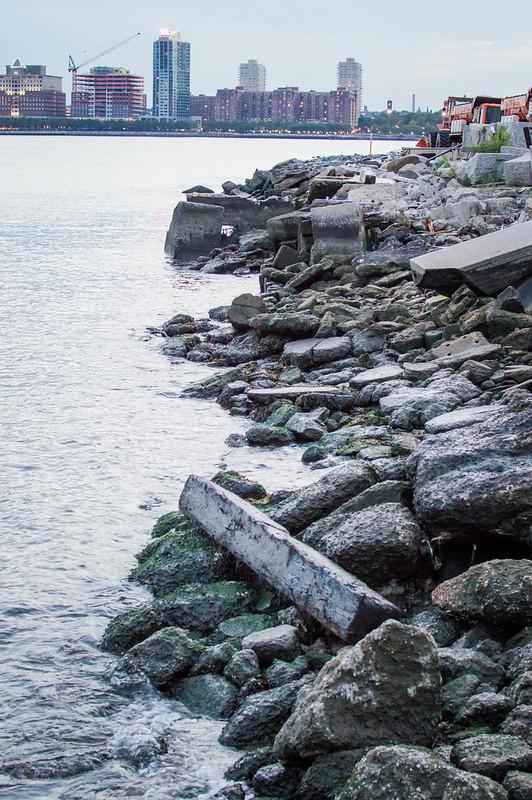 Rocks on Hudson River New York