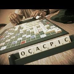 Scrabble com o maninho! #100happydays #day11