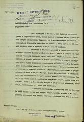 044. Magyarország ideiglenes konzuli képviselőjének levele gróf Bánffy Miklós külügyminiszternek Zita királyné spanyolországi útjáról