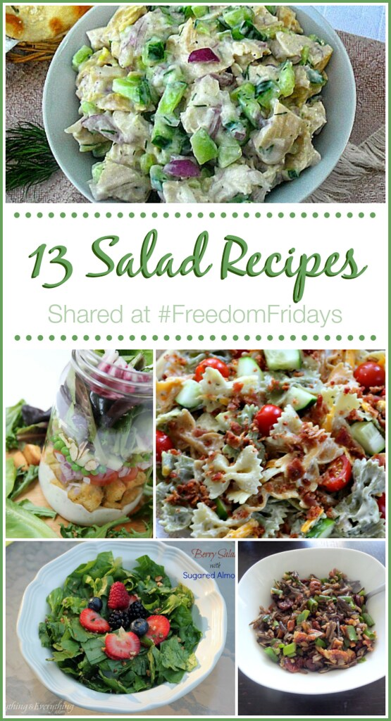 13 Salad Recipe collage.