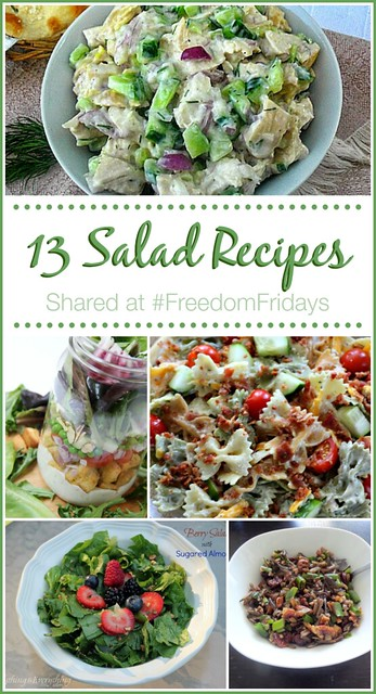 FF - 13 Salads shared at Freedom Fridays #roundup #featured #FreedomFridays