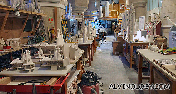 The workshop in Sagrada Familia where actual architects and craftsmen work to finish the property