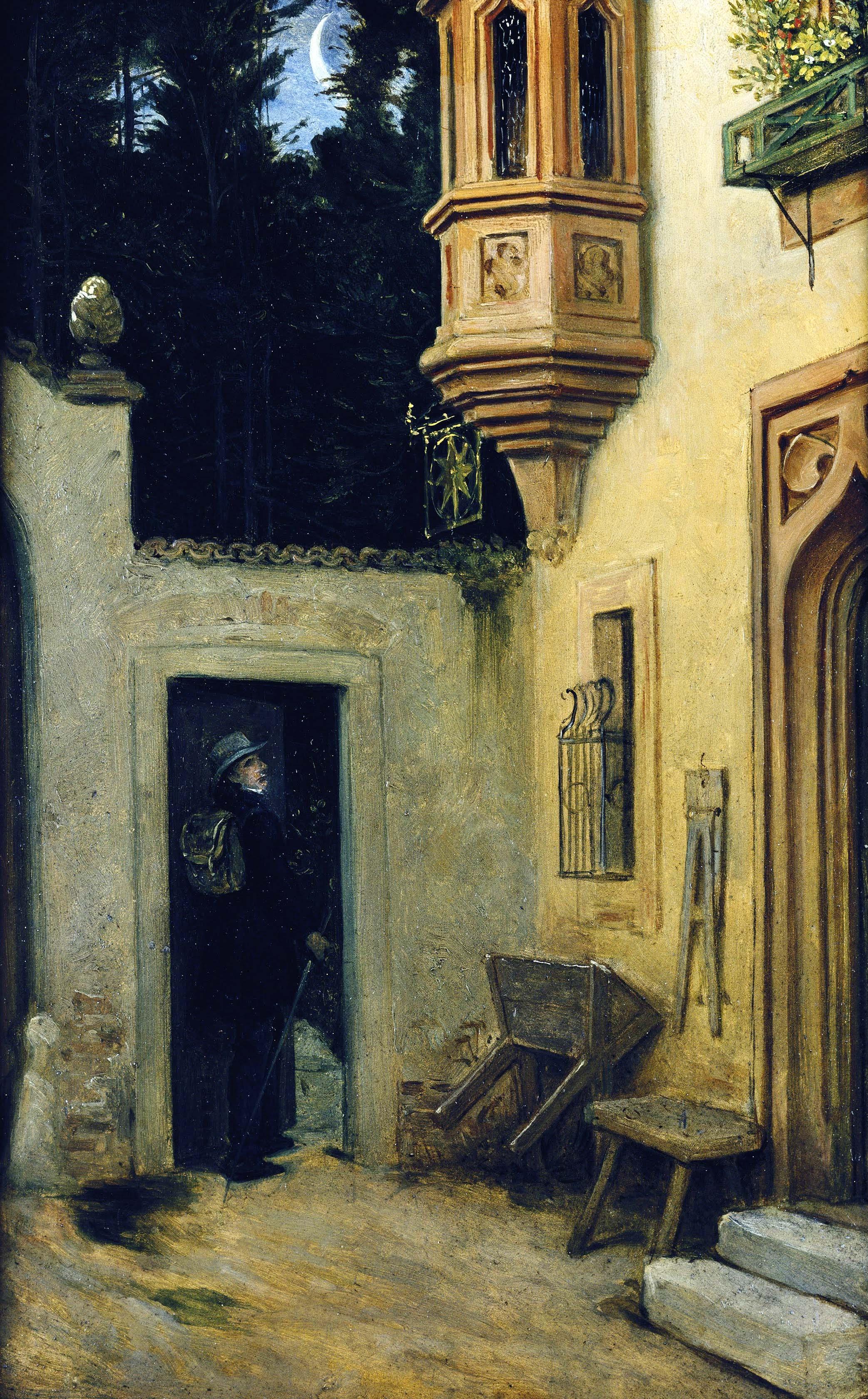 Moritz von Schwind, Abschied im Morgengrauen, 1859