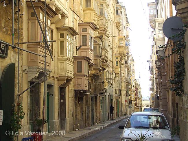 Una calle de La Valetta. © Lola Vázquez, 2008