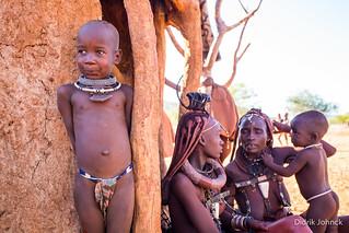 Himba People at Epupa Falls