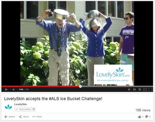 Joel Schlessinger completes the ice bucket challenge to raise money for ALS research