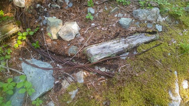 Buried streel wire