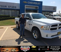 Congratulations to Ed Porter on your new car  purchase from Gene Klinkerman at Four Stars Auto Ranch! #NewCar