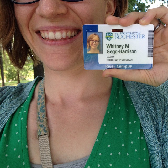 "My new ID says ""faculty"" instead of ""graduate student"", so that's nifty :)"